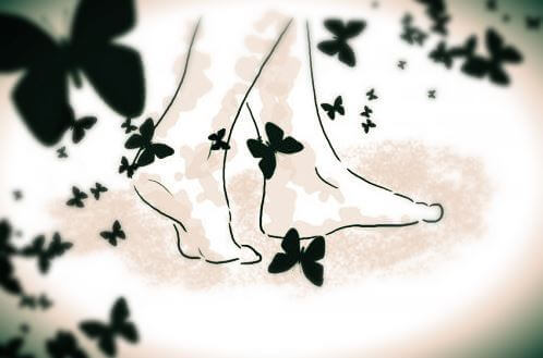 paljaat jalat ja perhoset