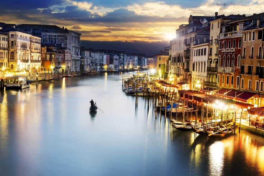 rauhallinen hetki venetsiassa
