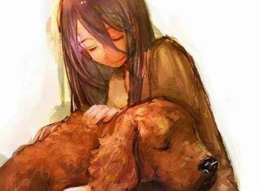 tyttö ja hänen koiransa