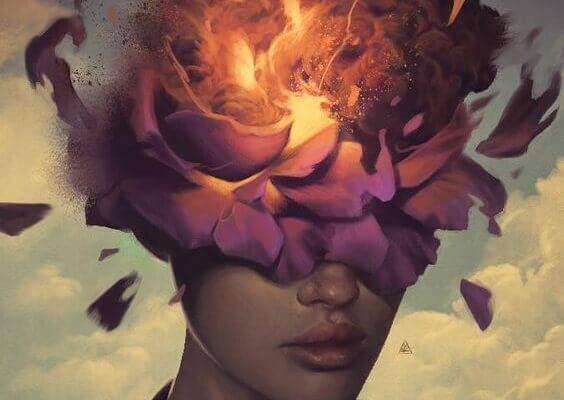 aivot ovat kuin kukka tulessa