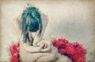 nainen on masentunut