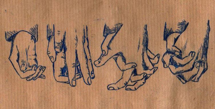 käsi löytää toisen