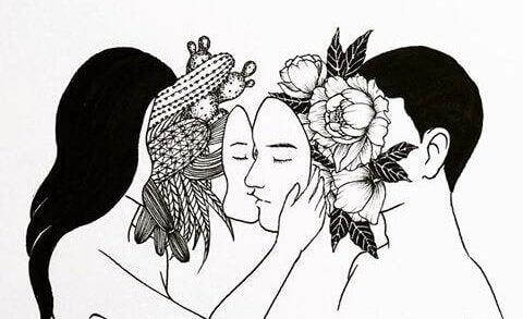 naamareiden takana kaktuksia ja ruusuja