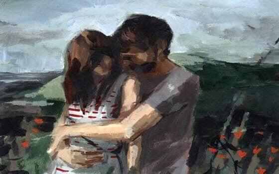 maalaus halaavasta pariskunnasta