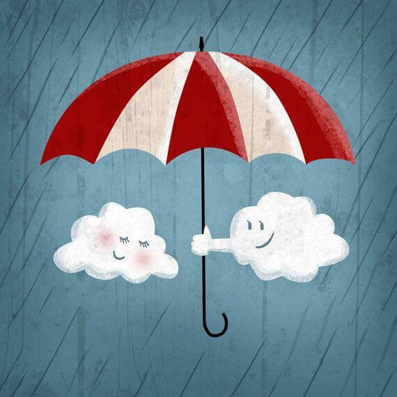 pilvillä on sateenvarjo