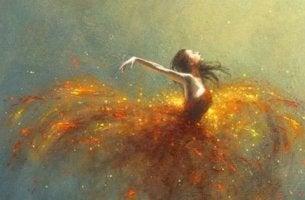 tanssija elää intohimoisesti