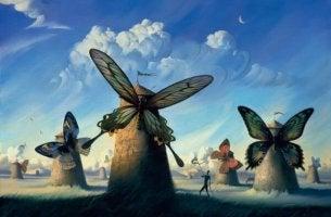tuulimyllyillä perhosen siivet