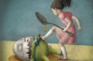 tyttö potkii kananmunaa jolla on housut