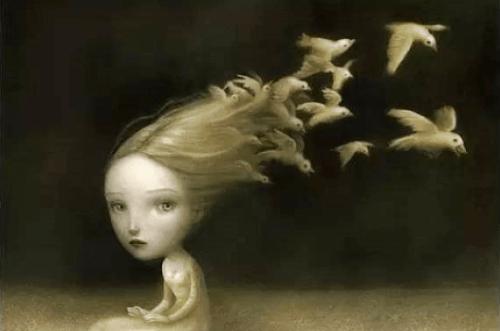 hiuksista lentää kyyhkyjä