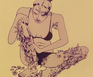 naisen säärikarvat ovat kukkia