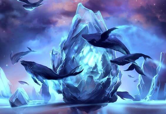 ryhävalaat ja jäävuoret