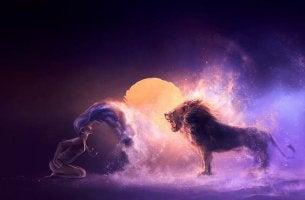 leijona karjuu