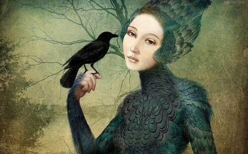 lintunainen ja lintu