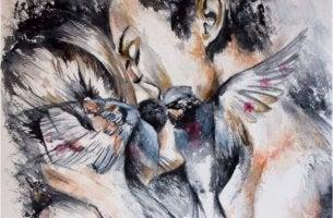 rakkaus miehen ja naisen välillä