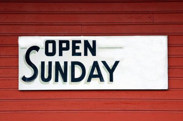 auki sunnuntaisin