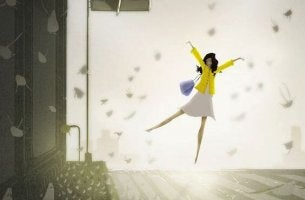 tyttö tanssii