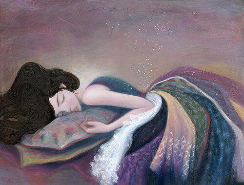 tyttö nukkuu