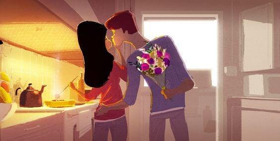mies löysi todellisen rakkauden