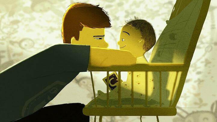 isä ja poika katsovat toisiaan