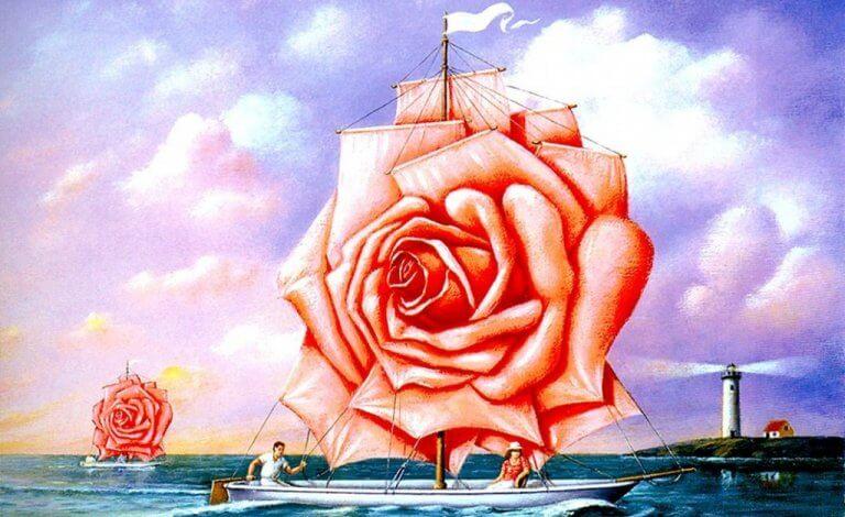 ruusuinen purjevene