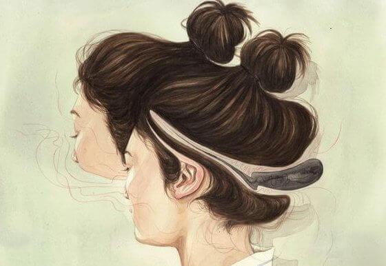 kaksipäinen nainen