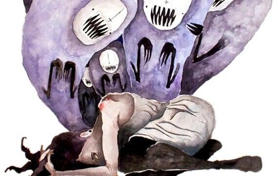 Kiusattu ja kidutettu nainen