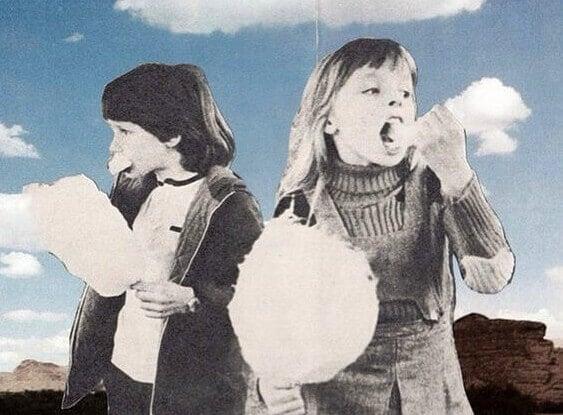 lapset syövät hattaraa
