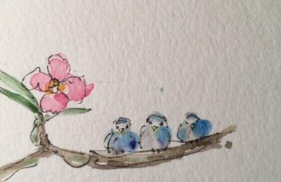 kukka ja linnut