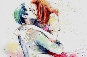 suukotteleva pari