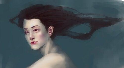 Nainen ja vedenalainen maailma