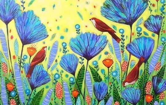 yltakylläisesti kukkia