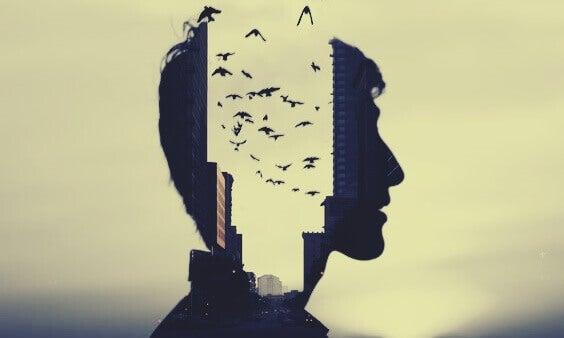 miehen pää on kaupunkikuva