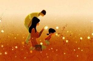 onnelliset perhesuhteet