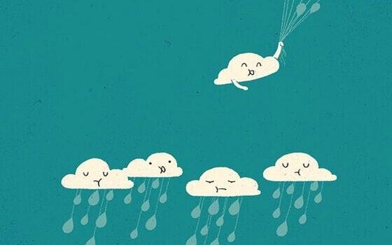 iloinen pilvi ja surulliset pilvet