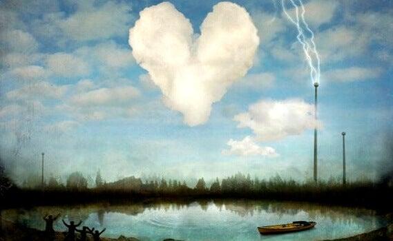 sydämen muotoinen pilvi