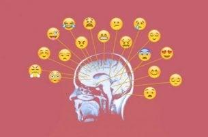 ihminen yrittää työstää tunteita emojien avulla