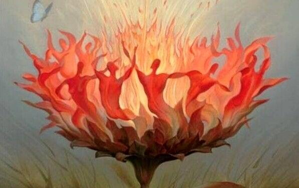 kukka on tuli