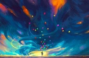 värikäs taivas