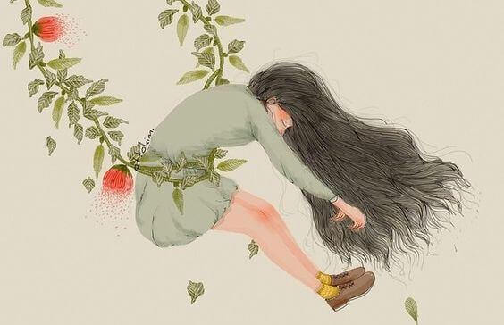 nainen joutuu vedettäväksi: stressi ja muistinmenetys