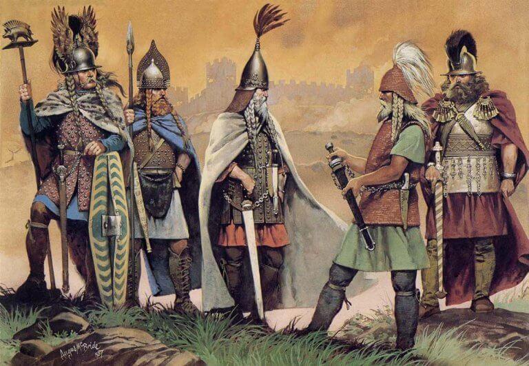 kelttiläiset sotamiehet