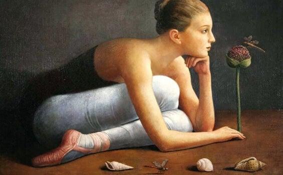 maalauksessa yksityiskohtia