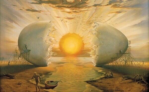 aurinko on kananmunan keltuainen