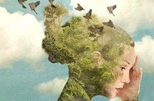 naisen pää on luontoa