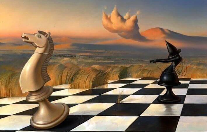 shakkinappuloiden taistelu