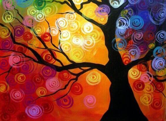 värikäs puu