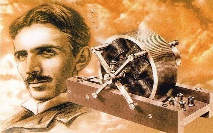 Nikola Tesla ja yksi hänen keksinnöistään