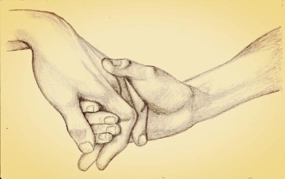 kädestä kiinni