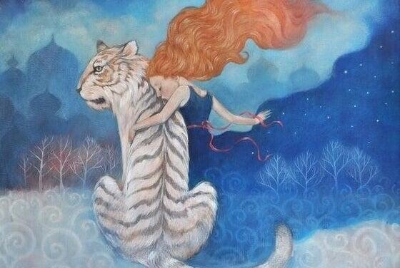 tyttö ja tiikeri