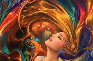 nainen ja värit