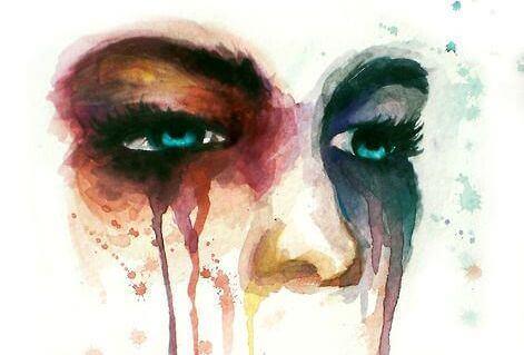 surun hyväksyminen ja kyyneleet